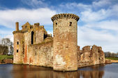 South west tower at Caerlaverock Castle — Stock Photo