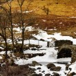 View of High Sweden Packhorse Bridge - Stock Photo