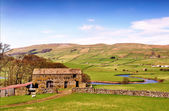 Barn near River Ure in the Yorkshire Dales — Stock Photo