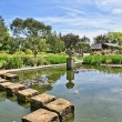 Stepping stones in Logan Botanic Gardens — Stock Photo