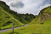 Winnats Pass in Derbyshire — Stock Photo