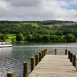 Jetty on Coniston Water — Stock Photo