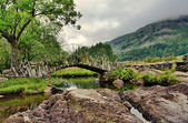 Packhorse bridge, Little Langdale,Cumbria — Stock Photo