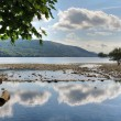 Cloud reflections in Coniston Water — Stock Photo