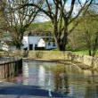 Tidal Flooding on country road — Stock Photo #40909901