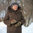 Winter portrait of the old woman — Stock Photo #22619033