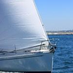 White sailing boat — Stock Photo #6654820