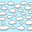 Stock Vector: Clouds, Sky