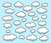 Clouds, Sky — Stock Vector