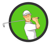 Male Golf Player — Stock Vector