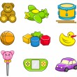 Stock Vector: Toys Icon Set