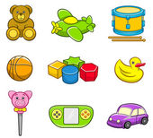 Toys Icon Set — Stockvektor