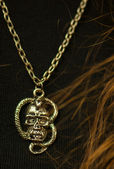 Necklace skull — Stockfoto
