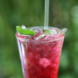 Stock Photo: Strawberry soda