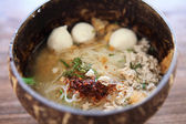 Thai food Tom yum noodle in Thai style — Stock Photo