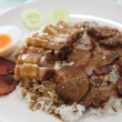 Rice roasted red pork - Stockfoto