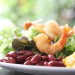 Royalty-Free Stock Photo: Salad with fried shrimp