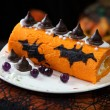 Stock Photo: Halloween cake