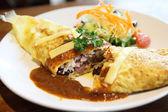 Omelette rice,omurice, japanese food — Stock Photo