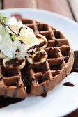 Chocolate Waffle — Stock Photo