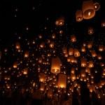 Floating lantern — Stock Photo