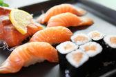 Salmon Sushi set — Stock Photo