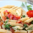 Stock Photo: Penne with tomato