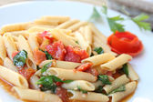 Penne with tomato — Stock Photo