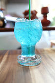 Blue lemon soda — Stock Photo