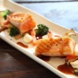 Salmon teriyaki — Stock Photo
