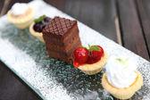 Torta de frutas mini — Fotografia Stock