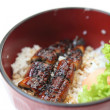 Grilled eel on rice - Stock Photo