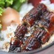 Grilled eel on rice - Lizenzfreies Foto