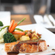 Royalty-Free Stock Photo: Grilled Salmon Steak with vegetables