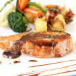 Stock Photo: Grilled Salmon Steak with vegetables
