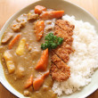 Royalty-Free Stock Photo: Curry rice with fried pork
