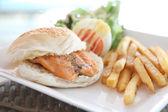 Salmon Sandwich — Stock Photo
