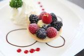 Berry tart pasta — Stok fotoğraf