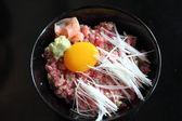 Tuna don , Japanese food Raw tuna on rice — Stock Photo