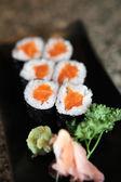 三文鱼 maki 寿司 — 图库照片