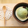 Stock Photo: Green teice cream