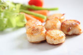 Close up of pan seared sea scallops — Stock Photo