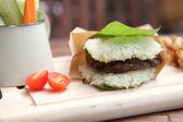 Hamburger di maiale riso — Foto Stock