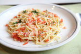 Spaghetti with tomato japanese style — Stock Photo