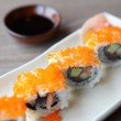 California rolls with salmon and avocado — Stock Photo #34124831