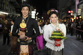 CHIANGMAI THAILAND - NOVEMBER 18 : Loy Krathong festival, celebr — Stockfoto