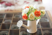 Flower in jar — Stock Photo
