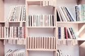 Wood shelf with book — Stock Photo