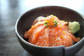 Salomon sushi rice don — Stock Photo