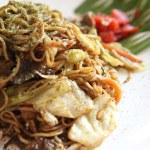 Japanese cuisine, frid noodles Yakisoba — Stock Photo